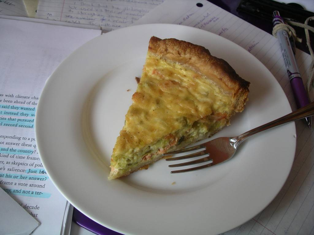 salmon quiche on homework