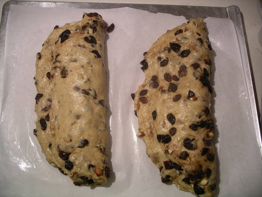 folded stollen dough