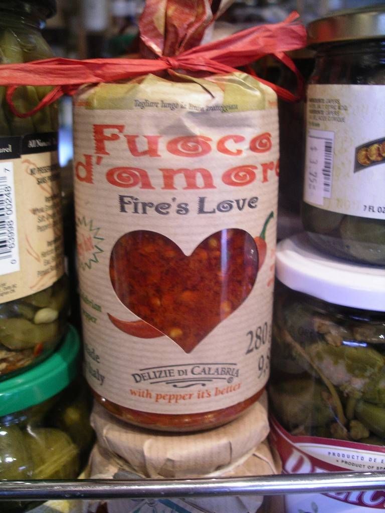 Fire's Love on the shelf at Charelli's