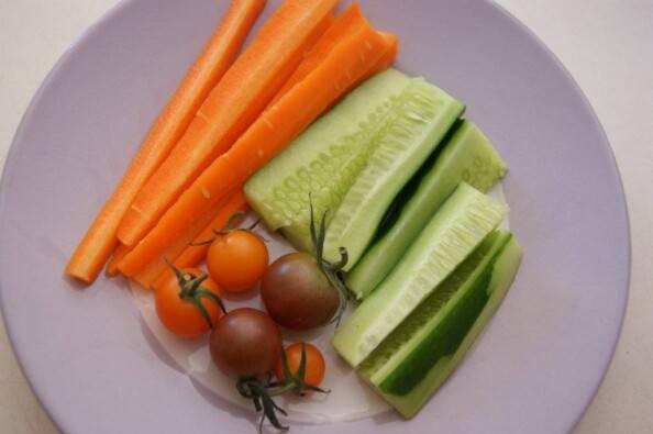 Ruben's market veggie plate