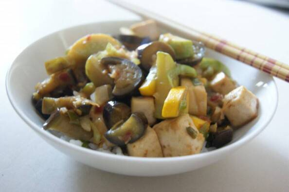 Chinese Eggplant & Roasted Tofu