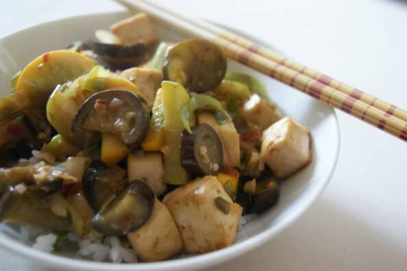 Eggplant & Roasted Tofu