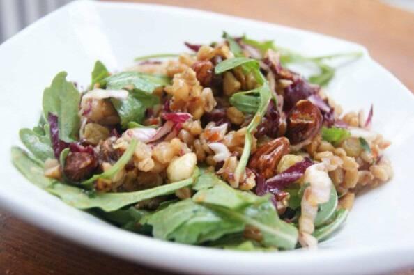 Warm Farro Salad with Winter Greens