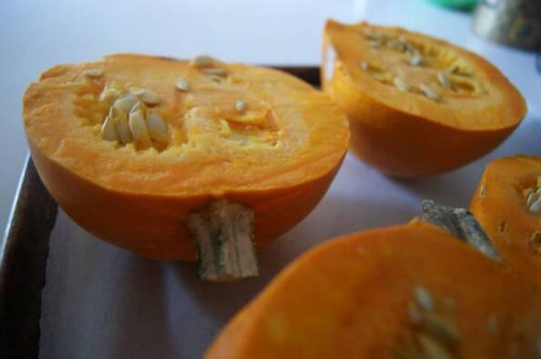 Cut Sugar Pumpkins