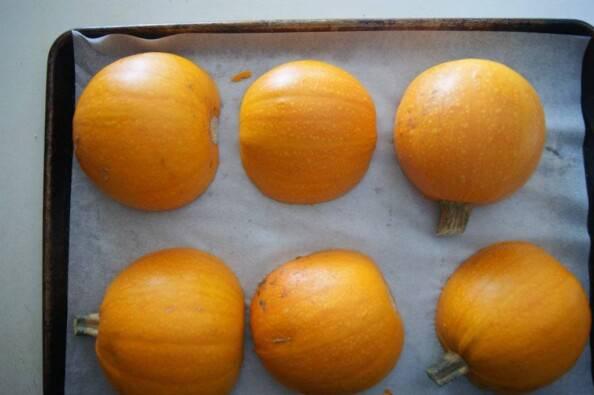 Sugar Pumpkins Cut Side Down