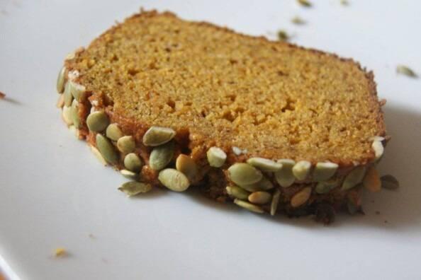 Slice of Fresh Pumpkin Loaf