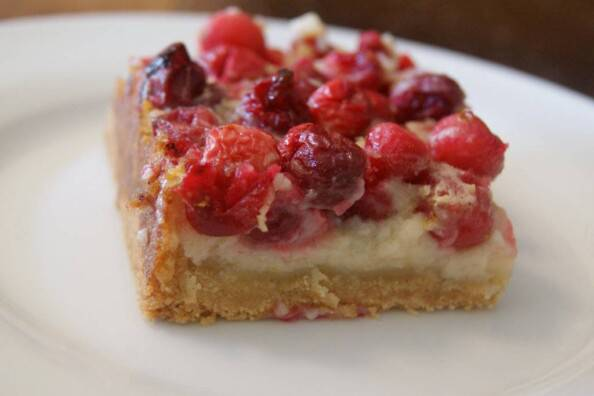 Christmas Cranberry Custard Bars