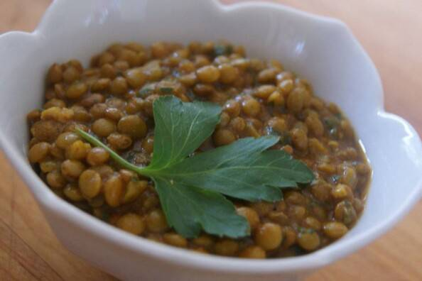 bowl of local spiced lentils