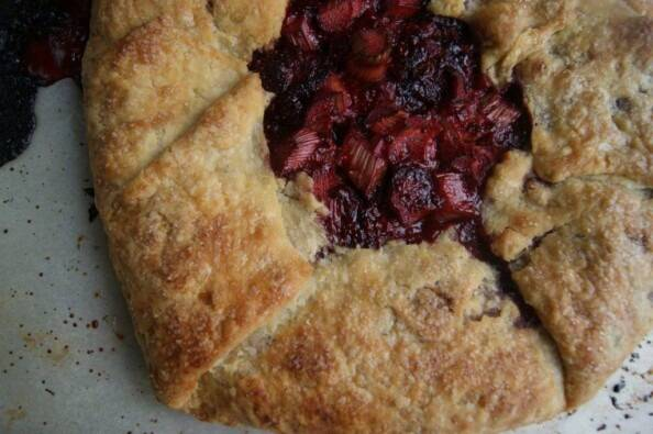 Rhubarb Strawberry  Galette