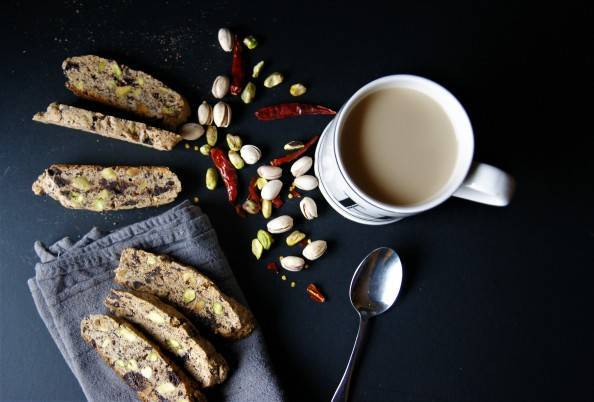 homemade biscotti with tea