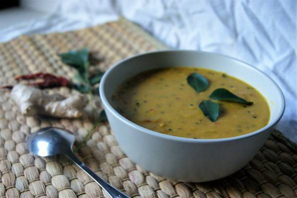 dhal with curry leaves