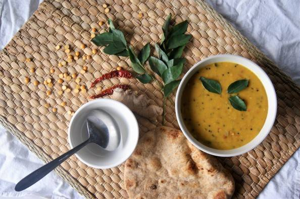 South Indian dhal curry leaves