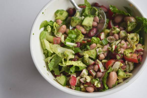 delicious simple canned bean salad