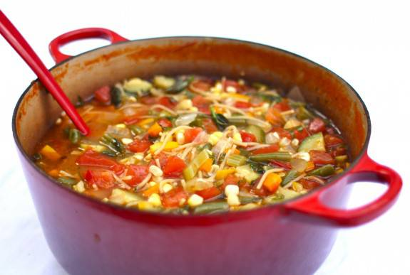 vegetable soup from Simple Bites
