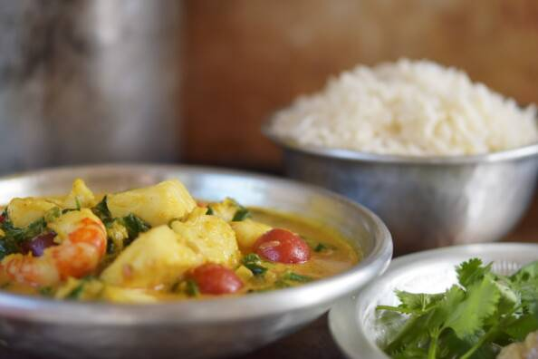 South Indian coconut seafood curry